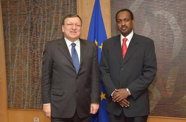 Ambassador Teshome Toga presents credentials to European Commission President Mr Barroso
