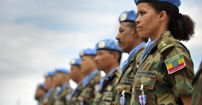 Ethiopia is currently the largest contributor of peacekeeping troops in the world. © UN/Christopher Herwig
