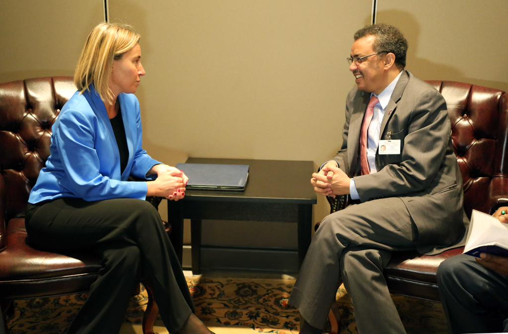 Frederica Mogherini and Dr Tedros