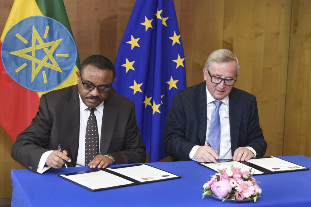 Jean-Claude Juncker, Hailemariam Desalegn