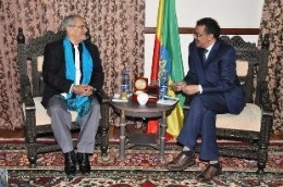Dr. Tedros holds discusses with Chairman of UN Panel on Peacekeeping Operations